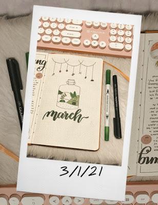 Renee's Bullet Journal - March Spread