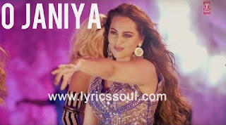 The O Janiya lyrics from 'Force 2', The song has been sung by Neha Kakkar, , . featuring John Abraham, Sonakshi Sinha, , . The music has been composed by Gourov Roshin, , . The lyrics of O Janiya has been penned by Kumaar,