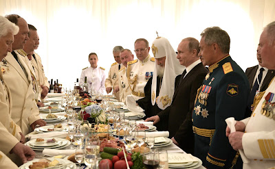 Vladimir Putin. Reception to mark Russian Navy Day.