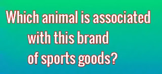 Which animal is associated with this brand of sports goods?