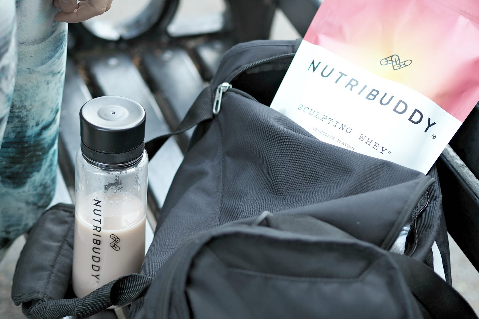 inside a fitness bloggers gym bag, copper garden, nutri buddy,