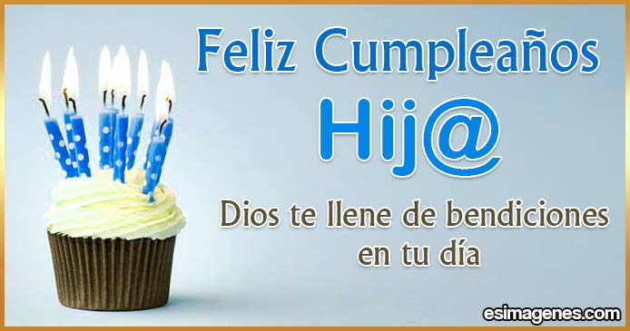 Feliz cumpleaños para hijos