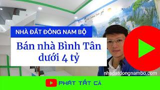 Bán nhà quận Bình Tân dưới 4 tỷ
