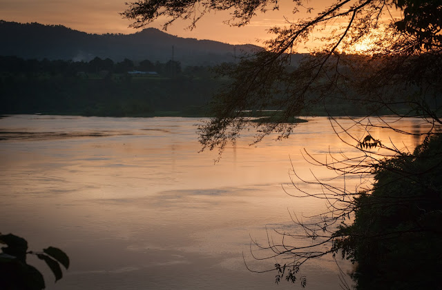 Nile... the tranquil version from our camp in Jinja, Uganda