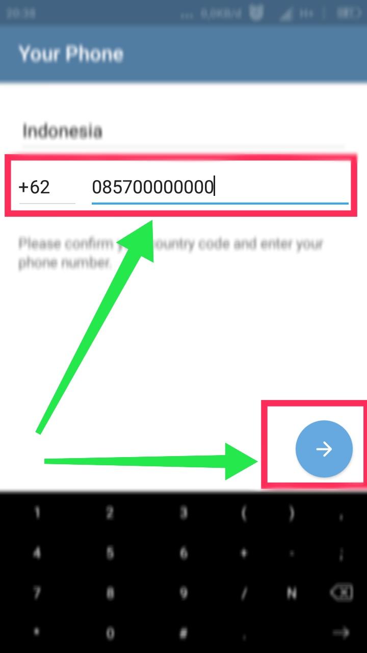 cara membuat telegram bahasa indonesia