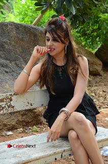 Actress Nikitha Pictures in Black Short Dress at Damayanthi Movie Opening  0075.JPG