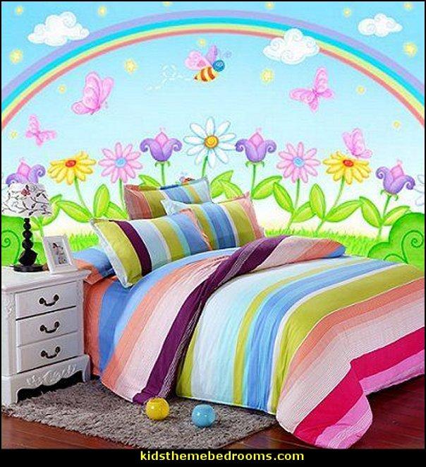 rainbow bedroom wall ideas rainbow bedding rainbow bedroom decorating