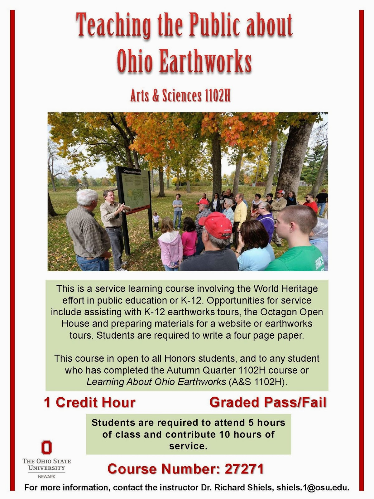 Teaching the Public about Ohio Earthworks Flyer PDF