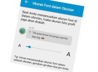 Cara Baru Merubah Ukuran Font/Huruf BBM For Android cober
