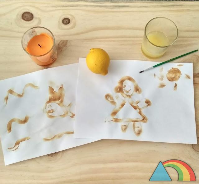 Tinta invisible con zumo de limón