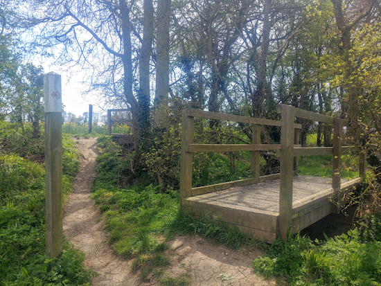 The two footbridges on footpath 14 mentioned in point 3 below