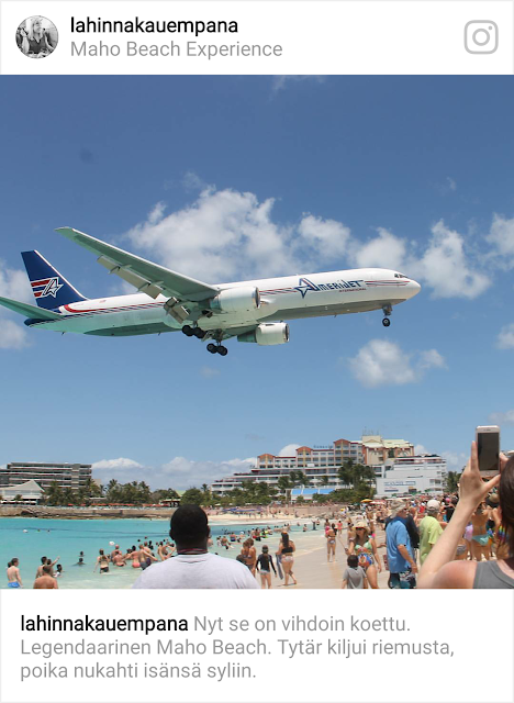 Maho Beach St. Maarten / Karibian risteily 2017