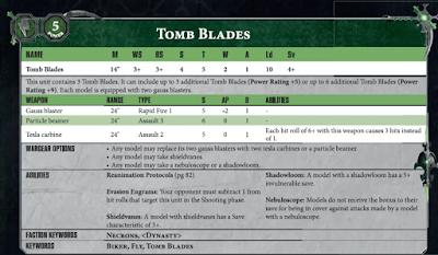 Tomb Blades Necron
