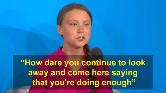 Greta Thunberg's Thought-Provoking Speech At The UN Climate Summit Is Going Viral