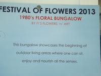 Floral bungalow panel, Festival of Flowers - Christchurch Botanic Gardens, New Zealand