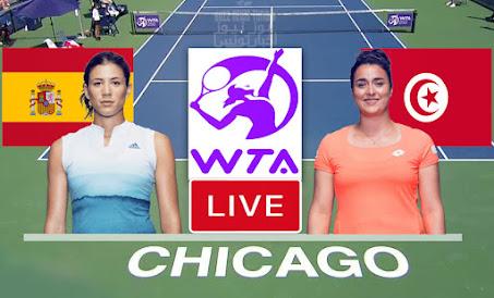 Ons Jabeur vs Garbiñe Muguruza Live Streaming Wta Chicago final