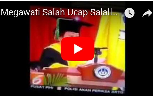 Disaat Megawati tak Bisa Ucapkan Shollahu'alaihiwasallam