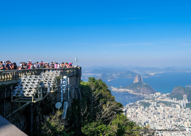 crowd at Christ The Redeemer in Rio de Janeiro