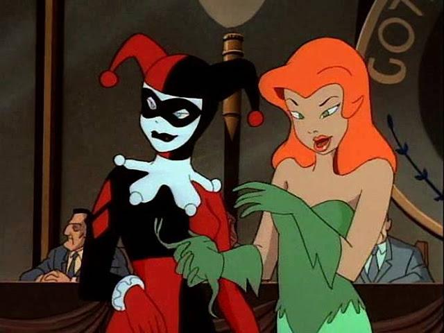 Arlequina e Hera Venenosa em Batman: Série Animada
