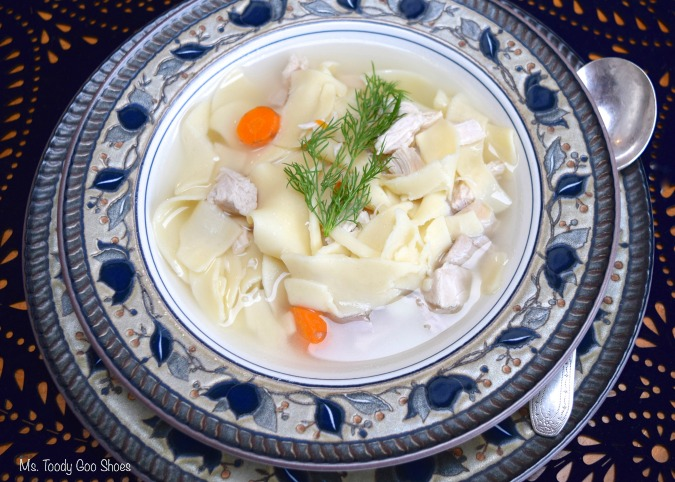 Homemade Chicken Noodle Soup: There's scientific evidence that chicken soup is better for you when you have a cold or flu than over-the-counter medications! Ms Toody Goo Shoes