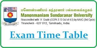 MSU Tirunelveli Exam Date Sheet 2020