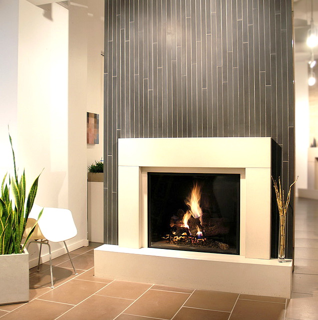 GAS FIREPLACE TILE  Fireplaces