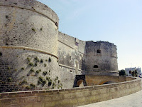 The ruins of the Castello Aragonese  in Otranto