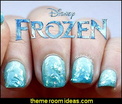 Frozen Disney nails Frozen nails decorating Frozen nails