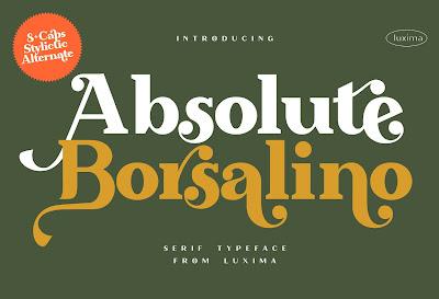 Absolute Borsalino - Serif Font