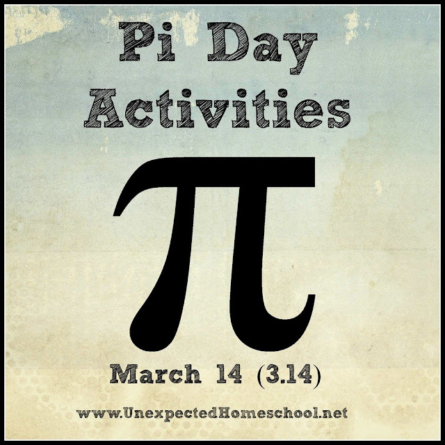 PI Day Activities for Homeschoolers- even high school students.