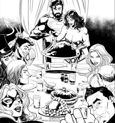 Wonder Woman hosts Thanksgiving