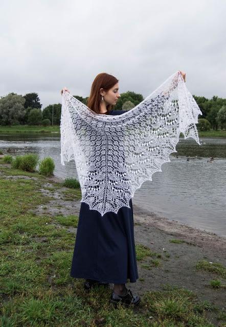 knit shawls on pinterest