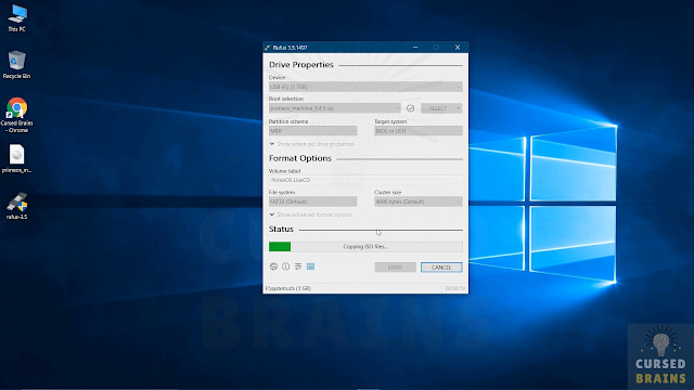 How To Install Prime OS Rufus application, to create the bootable USB drive