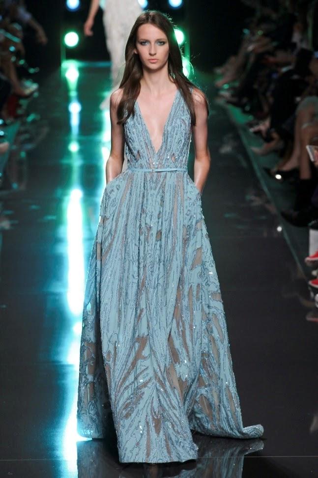2fdb29ea9 Ultra Tendencias  Fashion looks  Vestido aguamarina de Elie-saab