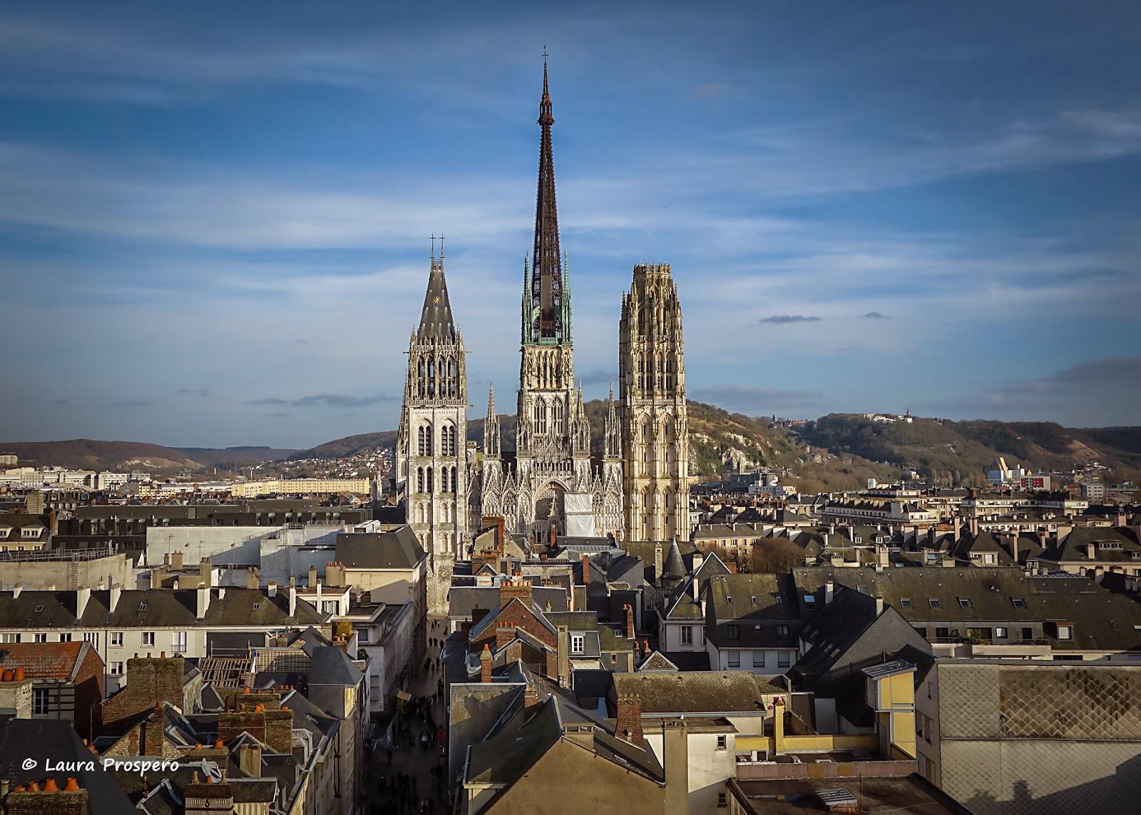 Cathédrale Notre-Dame de Rouen vue de la terrasse du Gros Horloge © Laura Prospero