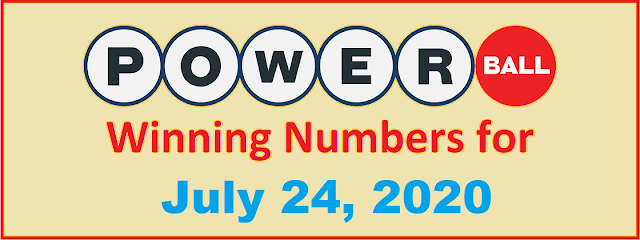 PowerBall Winning Numbers for Saturday, July 24, 2021