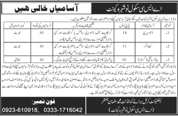 Army Service Corps ASC School Job Advertisement in Pakistan.