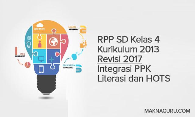 RPP SD Kelas 4 Kurikulum 2013 Revisi 2017 Integrasi PPK Literasi dan HOTS