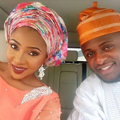 Lilian esoro and ubi franklin at the wedding of toolz Oniru