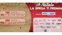 """Da Acqua&Sapone """" A Natale la spesa ti premia"""" con buoni spesa da 5 euro e 10 euro ( premio certo)"""