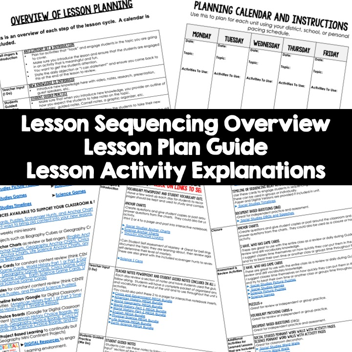 World Geography Lesson Plan Guides, World Geography Pacing