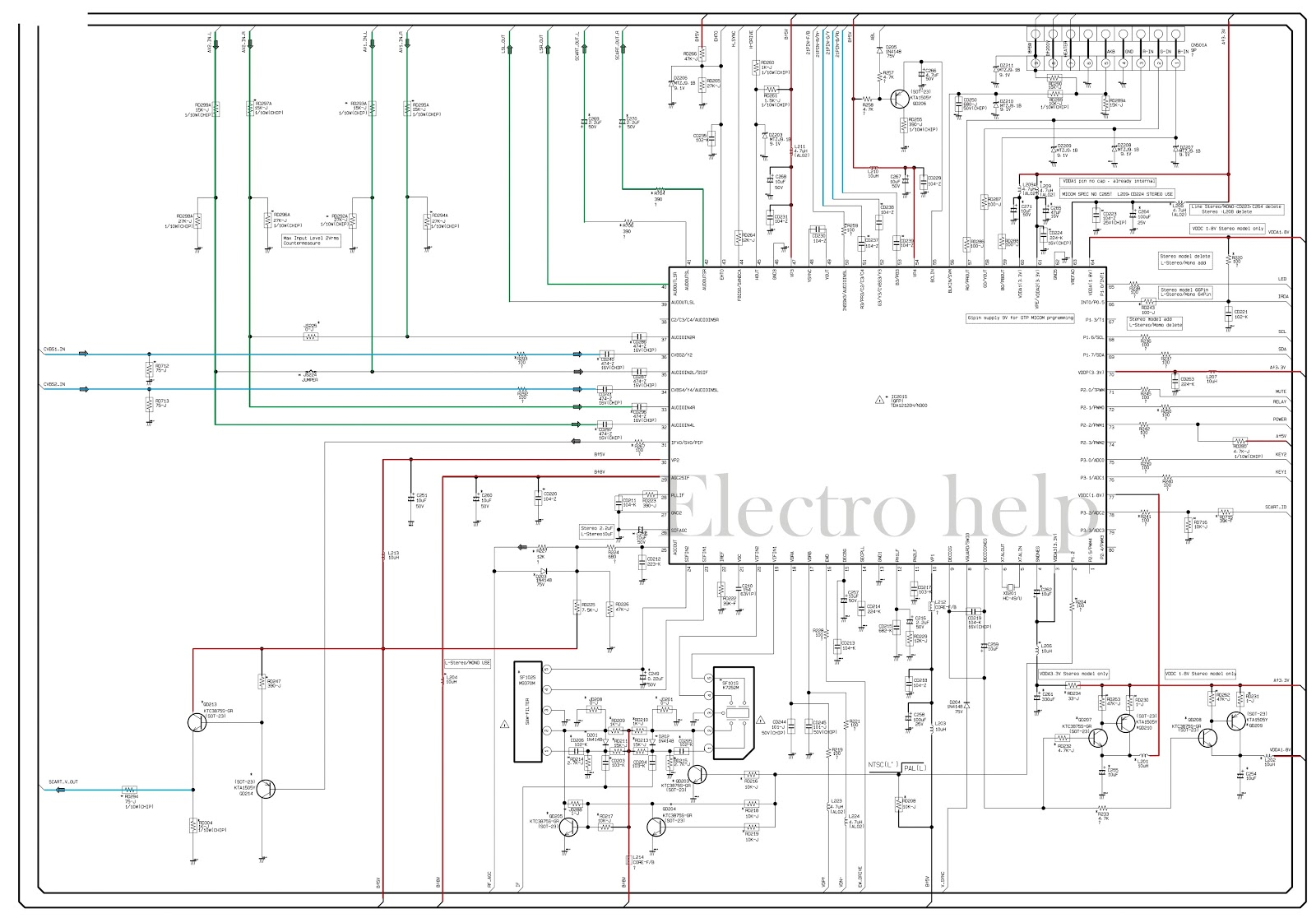 CL21A551 Samsung CRT TV – Circuit diagram