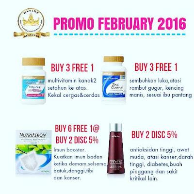Promo Shaklee Februari 2016