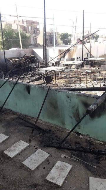 حرق مقر المرشح إبراهيم أبودوح بطما ومازالت التحقيقات مستمرة