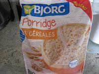 Porridge Bjorg céréales 3 , galette aux flocons de céréales