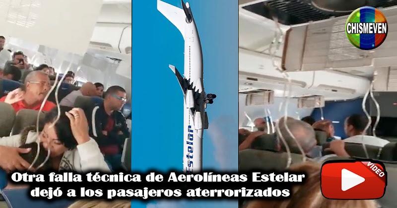 Otra falla técnica de Aerolíneas Estelar dejó a los pasajeros aterrorizados