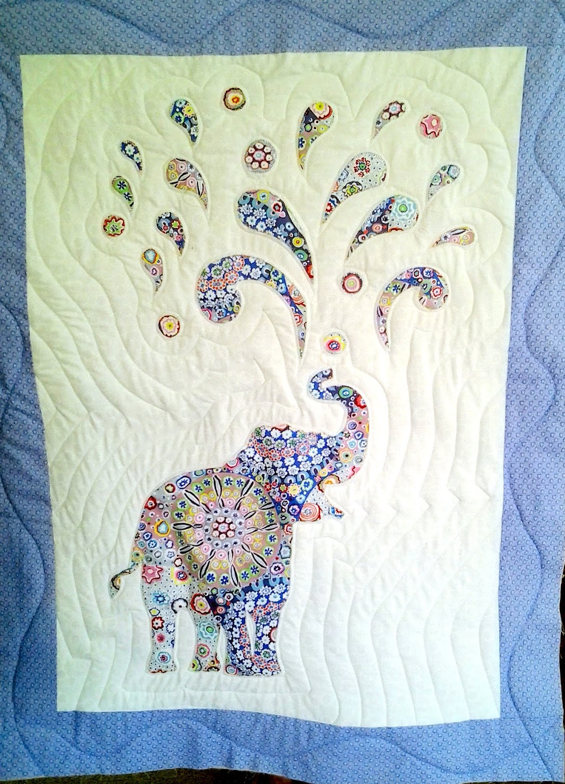 Her 2nd Grandchild And Has Of Course Been Busy Sewing Making This Gorgeous Little Quilt She Adapted It From A Free Pattern Paisley Splash That