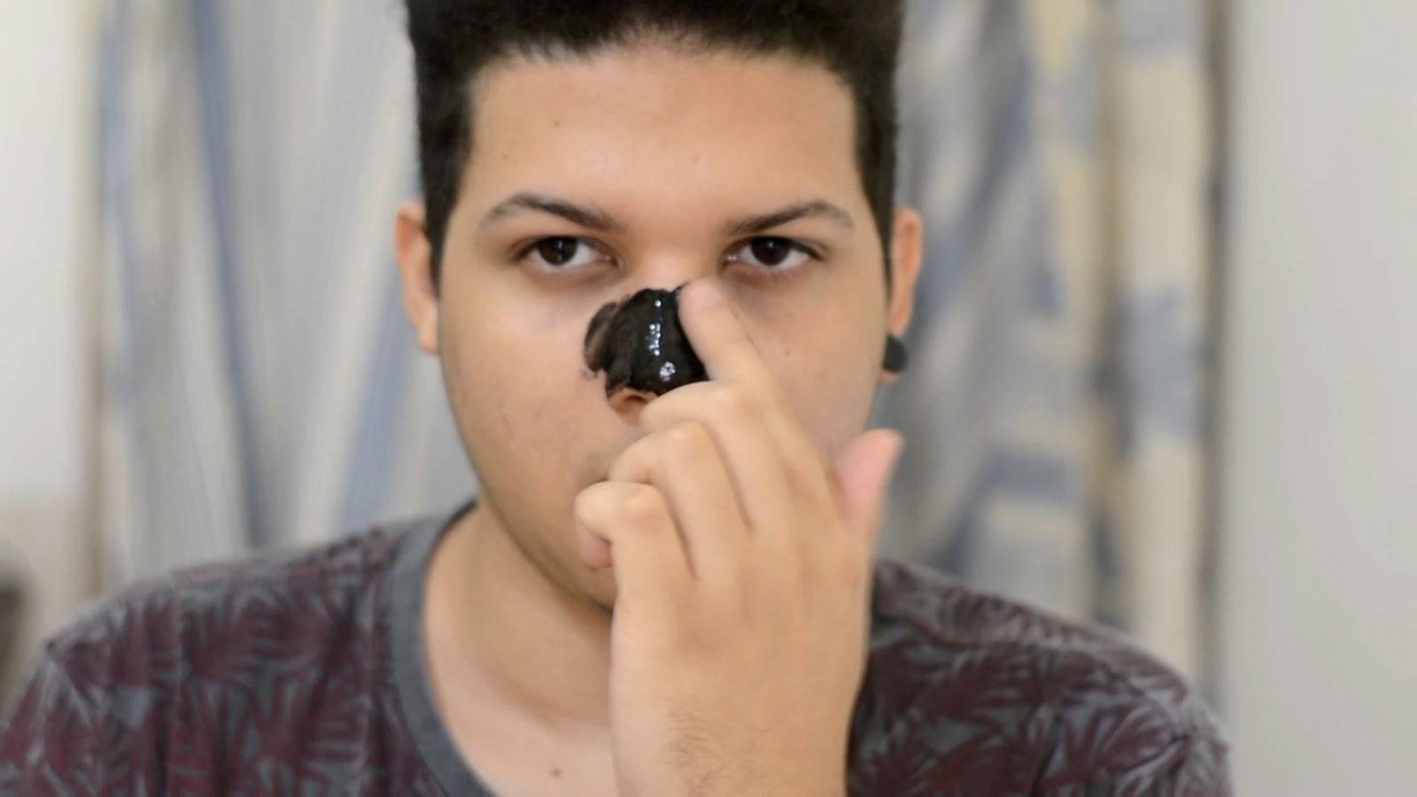 Remover cravos em casa mascara preta