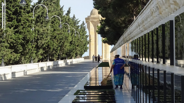 It gets cleaned every day. Its their national grave in Baku
