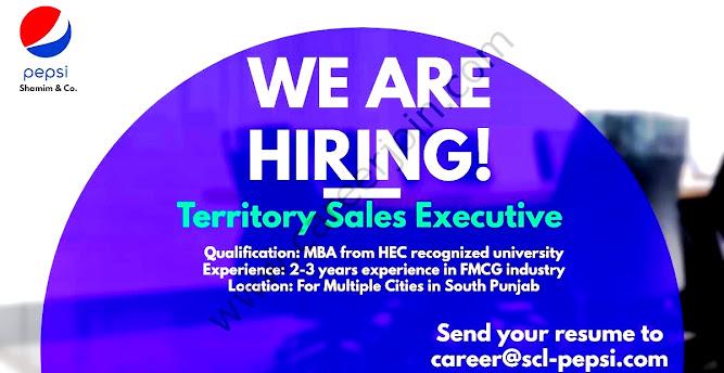 Pepsi Shamim & Co Latest  Jobs Territory Sales Executive